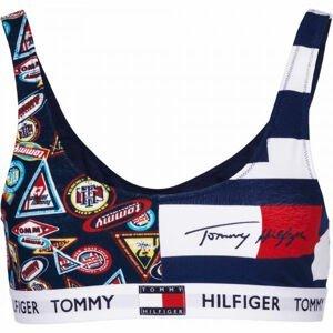 Tommy Hilfiger BRALETTE PRINT tmavo modrá XS - Dámska podprsenka