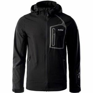 Hi-Tec NIKOS čierna XL - Pánska softshellová bunda