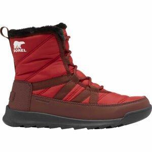 Sorel WHITNEY II SHORT LACE FU červená 8.5 - Dámska zimná obuv