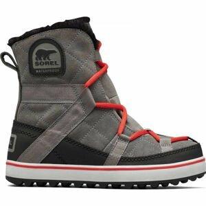 Sorel GLACY EXPLORER SHORTIE sivá 8 - Dámska zimná obuv
