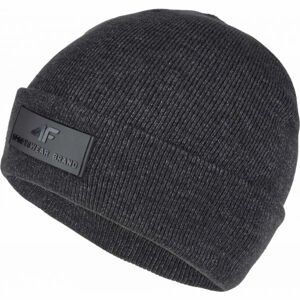 4F CAP tmavo sivá M - Zimná čiapka