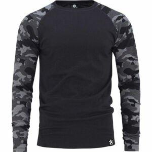 Bula CAMO MERINO WOOL CREW  L - Pánske tričko