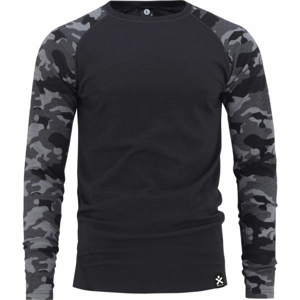 Bula CAMO MERINO WOOL CREW  M - Pánske tričko