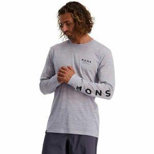 MONS ROYALE ICON LS  L - Pánske tričko z Merina s dlhým rukávom.