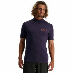 MONS ROYALE CADENCE HALF ZIP  2XL - Pánske cyklistické tričko