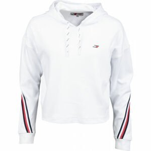Tommy Hilfiger RELAXED DOUBLE PIQUE HOODIE LS  L - Dámska mikina