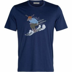 Icebreaker M TECH LITE II SS TEE SKI RIDER ROYAL   XL - Pánske tričko z merina