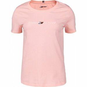 Tommy Hilfiger REGULAR C-NK GRAPHIC TEE SS  L - Dámske tričko