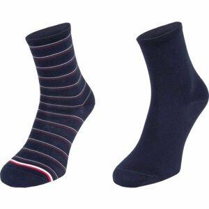 Tommy Hilfiger WOMEN SHORT SOCK 2P PREPPY  35 - 38 - Dámske ponožky