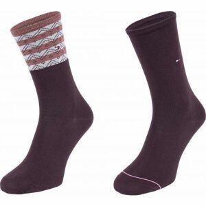 Tommy Hilfiger WOMEN SEASONAL TENCEL SOCK 2P FOLK STRIPE  39 - 42 - Dámske ponožky