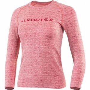 Klimatex LOKE  L/XL - Dámske bezšvové tričko s 3/4 rukávom