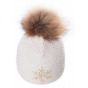 R-JET TOP FASHION EXCLUSIV ZLATÝ LUREX béžová UNI - Dámska pletená čiapka