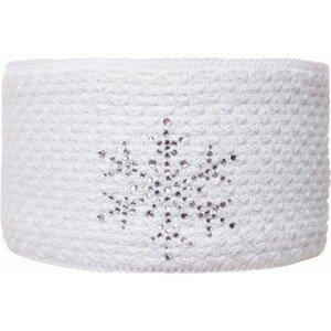 R-JET FASHION EXCLUSIVE STRIEBORNÝ LUREX biela UNI - Dámska pletená čelenka