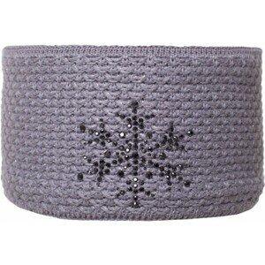 R-JET FASHION EXCLUSIVE STRIEBORNÝ LUREX sivá UNI - Dámska pletená čelenka
