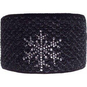 R-JET FASHION EXCLUSIVE STRIEBORNÝ LUREX čierna UNI - Dámska pletená čelenka
