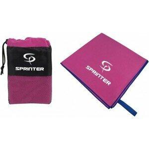 Sprinter UTERÁK 100x160CM ružová NS - Sportovní uterák z mikrovlákna