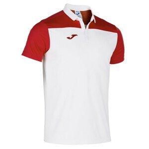 POLO SHIRT HOBBY II WHITE-RED S/S biela-červená 3XL
