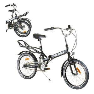 """Odpružený skladací bicykel Reactor Comfort 20"""" čierna"""