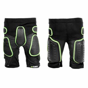 Kraťasy s protektormi W-TEC Xator čierno-zelená - L