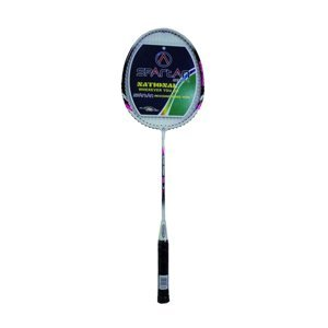Badmintonová raketa Spartan Bossa krémově bílá-modrá
