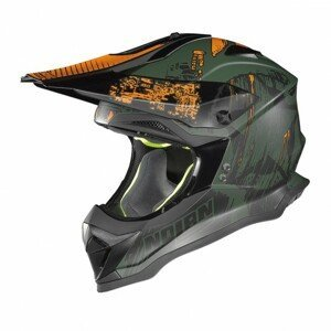 Motokrosová prilba Nolan N53 Cliffhanger Flat Military Green - XL (61-62) - Záruka 5 rokov