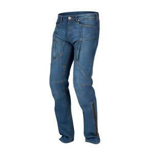 Pánske jeansové moto nohavice REBELHORN Hawk modrá - 34