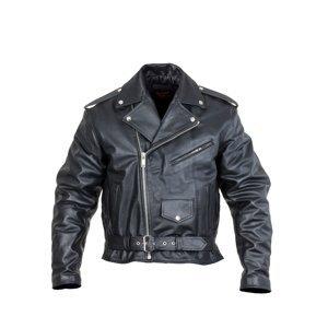 Kožená moto bunda Sodager Live To Ride Jacket čierna - 4XL