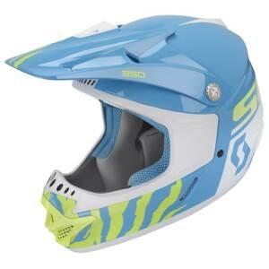 Detská motokrosová prilba SCOTT 350 Race Kids MXVII blue-white - S (47-48)