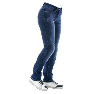 Dámske moto jeansy City Nomad Karen Iron modrá - XS