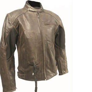 Airbagová bunda Helite Roadster Vintage hnedá kožená hnedá - M