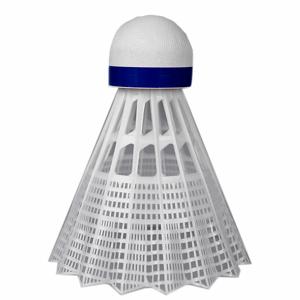 Plastové košíčky Yonex Mavis 350 biely košík - modrý pruh