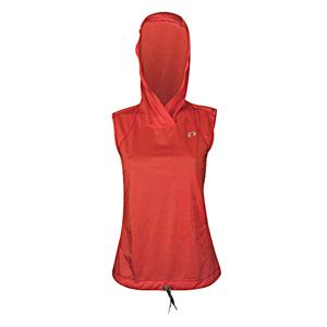 Dámska vesta Newline Imotion Heather Hood červená so vzorom - M
