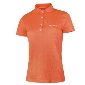 Dámske thermo tričko Brubeck PRESTIGE s golierom oranžová - M