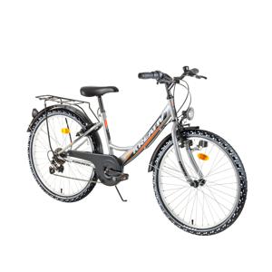 "Juniorský bicykel Kreativ 2414 24"" - model 2018 Grey - Záruka 10 rokov"