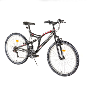 "Celoodpružený bicykel Kreativ 2641 26"" - model 2018 Black - Záruka 10 rokov"