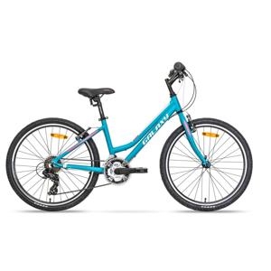 """Juniorský dievčenský bicykel Galaxy Lyra 24"""" - model 2020 tyrkysová"""