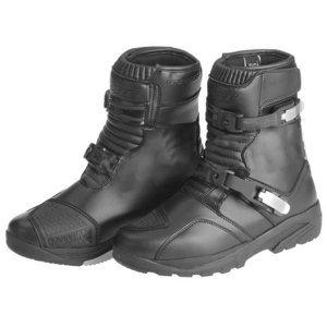 Moto topánky KORE Adventure Mid čierna - 40