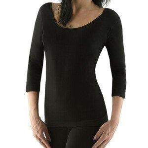 Dámske tričko s 3/4 rukávom EcoBamboo čierna - M/L