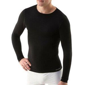 Unisex tričko s dlhým rukávom EcoBamboo čierna - S/M
