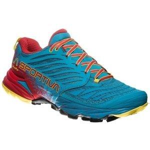 Pánske trailové topánky La Sportiva Akasha Tropic Blue/Cardinal Red - 46
