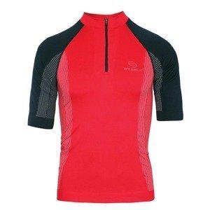 Pánske termo tričko Brubeck FIT s krátkym rukávom červeno-čierna - S