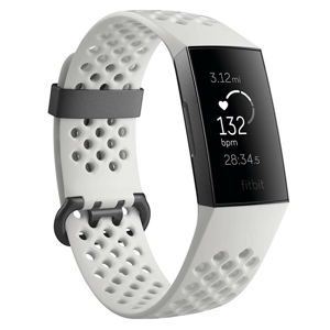 Fitness náramok Fitbit Charge 3 Graphite/White Silicone