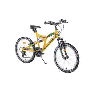 "Detský bicykel Kreativ 2041 20"" - model 2019 Yellow - Záruka 10 rokov"