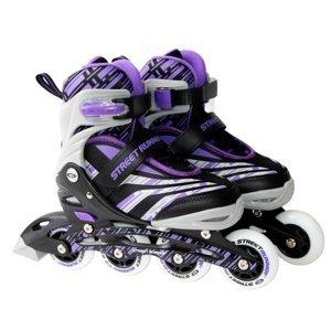 Kolieskové korčule Laubr Street Runner 20 fialová - S (31-34)