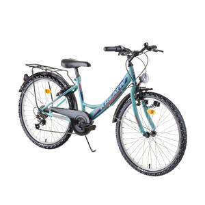"Juniorský bicykel Kreativ 2414 24"" - model 2019 Light Green - Záruka 10 rokov"