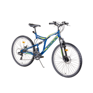 "Celoodpružený bicykel Kreativ 2643 26"" - model 2019 blue - Záruka 10 rokov"