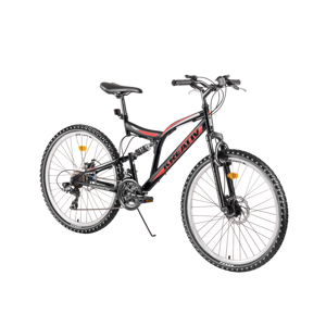 "Celoodpružený bicykel Kreativ 2643 26"" - model 2019 Black - Záruka 10 rokov"
