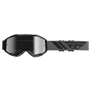 Motokrosové okuliare Fly Racing Zone čierne, strieborné chrom plexi