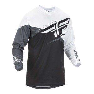 Motokrosový dres Fly Racing F-16 2019 čierna/biela/šedá - XXL