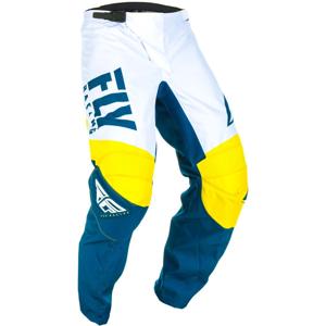 Motokrosové nohavice Fly Racing F - 16 2019 žltá/biela/modrá - 32